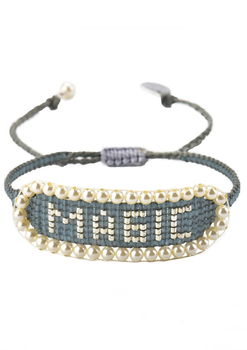 MISHKY Magic Beaded Bracelet - Grey main image