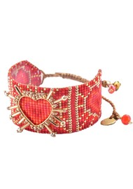 MISHKY Shining Heart Bracelet - Red