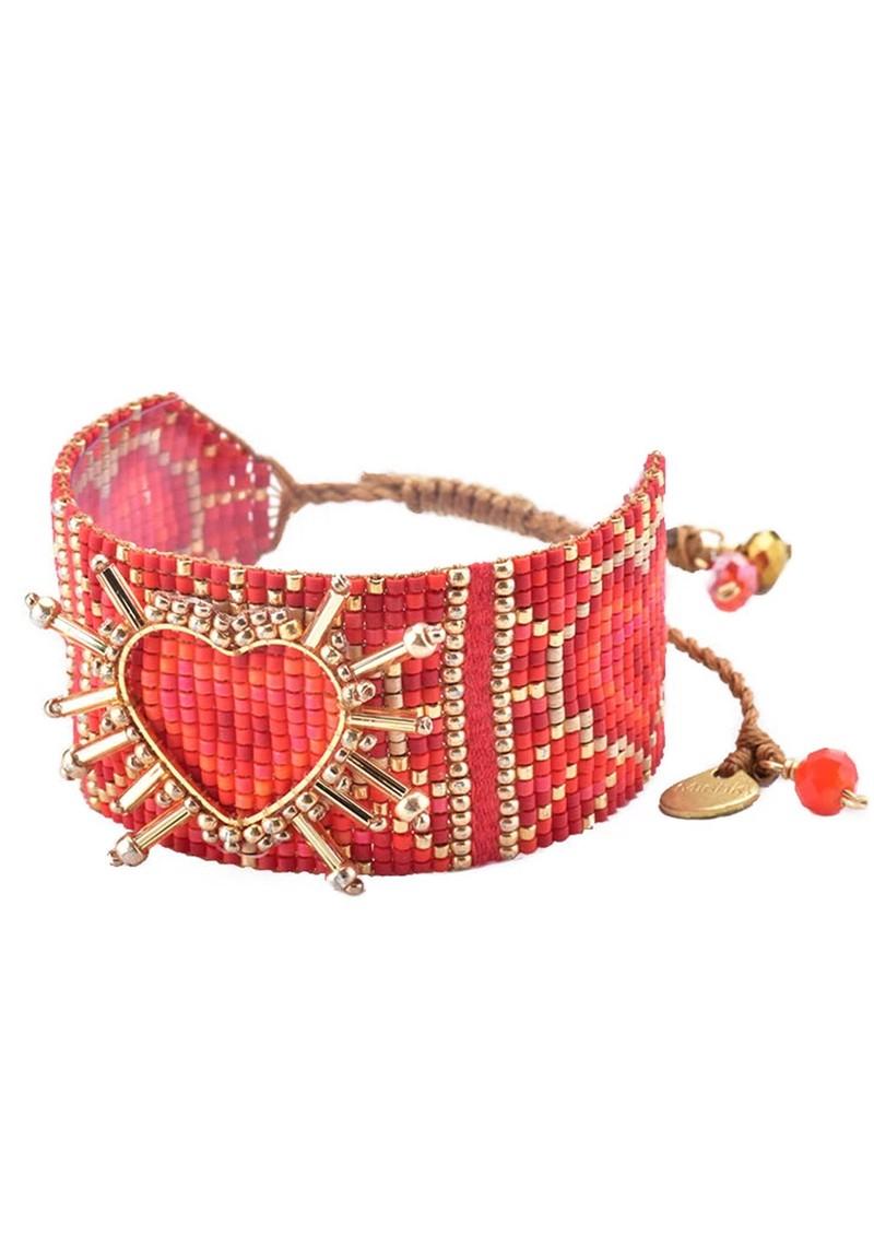 MISHKY Shining Heart Bracelet - Red main image