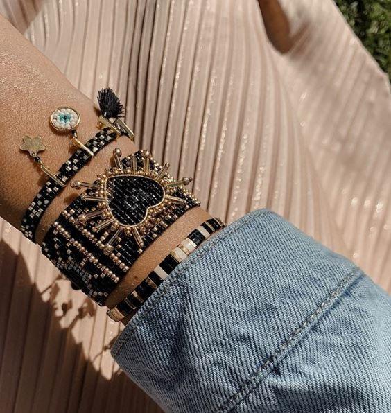 MISHKY Shining Heart Bracelet - Black main image