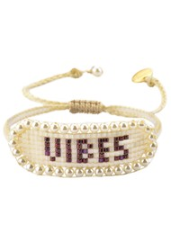 MISHKY Vibes Beaded Bracelet - Nude