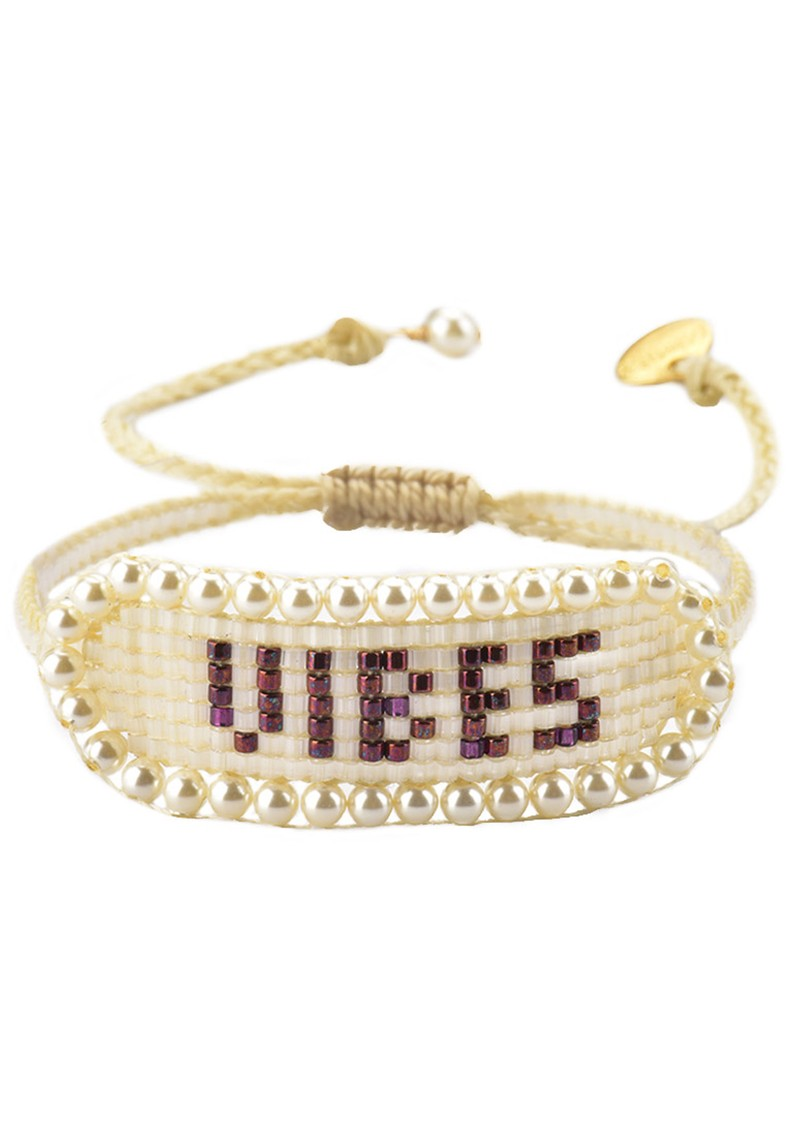 MISHKY Vibes Beaded Bracelet - Nude main image