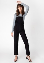 J Brand Jules Overall Jean Dungarees - Black