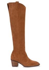 AIR & GRACE Hutton Tall Suede Boot - Tan