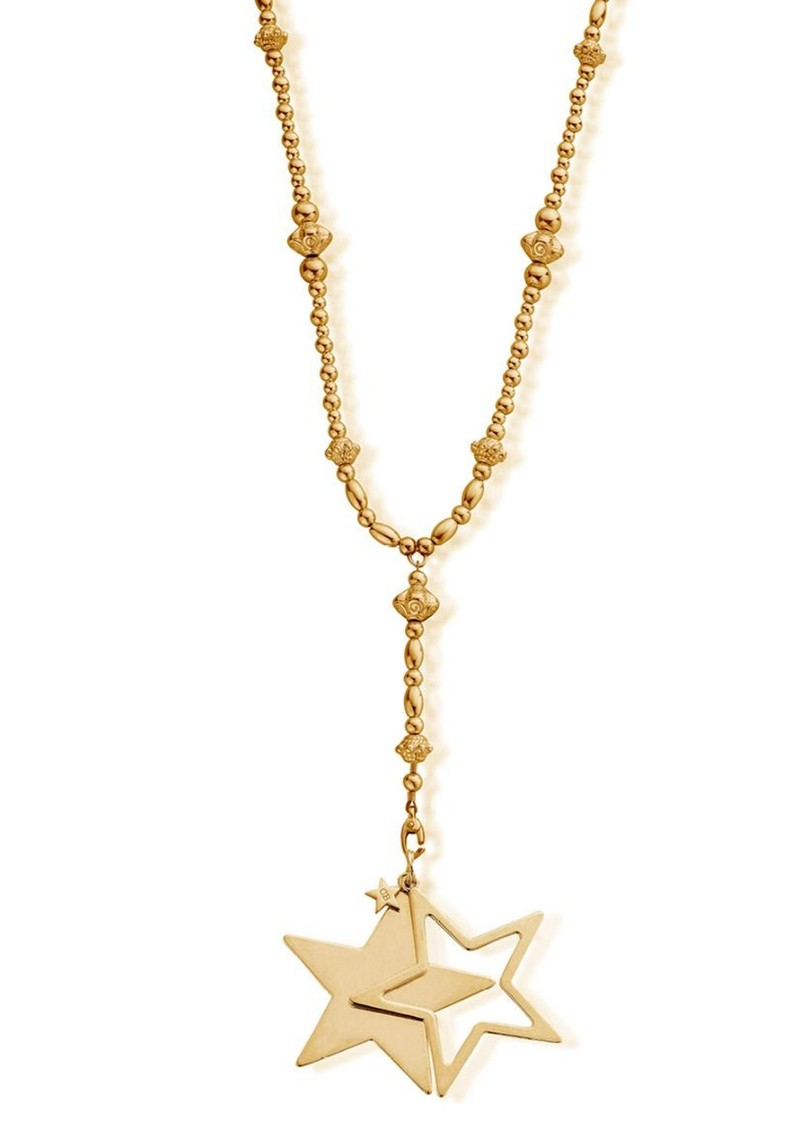 Fearless Necklace With Star Pendant - Gold main image