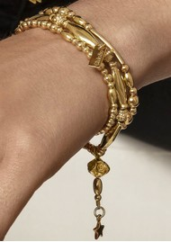 ChloBo Fearless Stack of 3 Bracelets - Gold