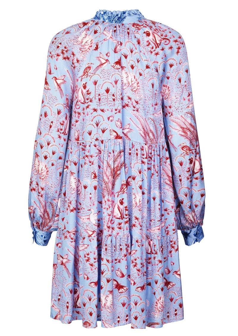 STINE GOYA Jasmine Baby Dolly Dress - Jungle Scene Pink main image