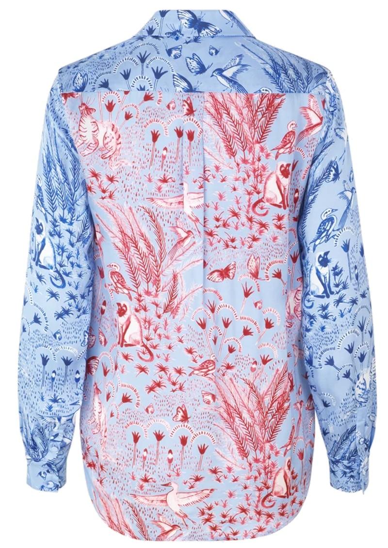 STINE GOYA Maxwell Shirt - Jungle Scene Pink main image