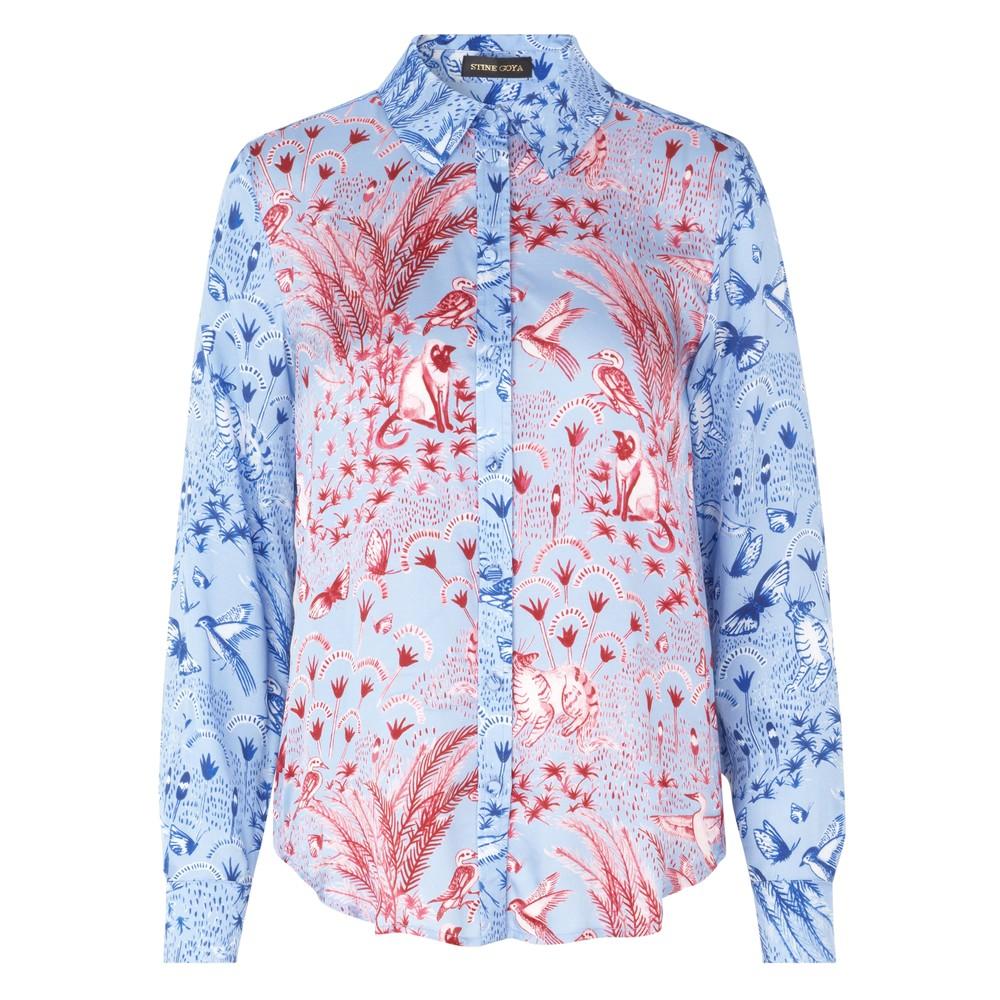 Maxwell Shirt - Jungle Scene Pink