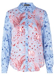 STINE GOYA Maxwell Shirt - Jungle Scene Pink