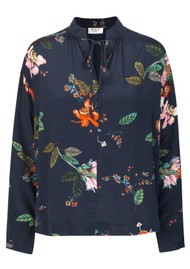 Day Birger et Mikkelsen  Day Bouquet Blouse - Navy Blazer