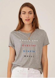 SOUTH PARADE Lola Thank You T-Shirt - Heather Grey