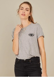 SOUTH PARADE Lola 'Evil Eye' T-Shirt - Heather Grey