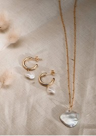 KIRSTIN ASH Keisha Pearl Charm - Silver