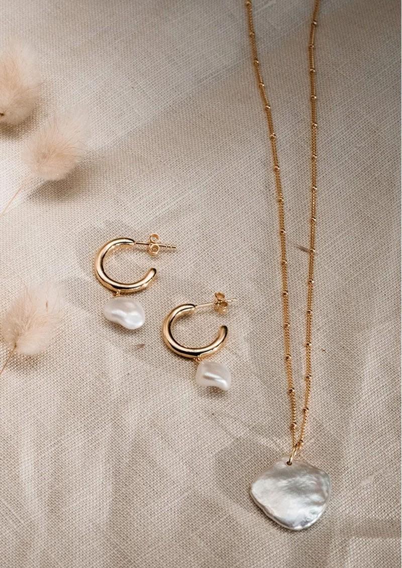 KIRSTIN ASH Keisha Pearl Charm - Silver main image