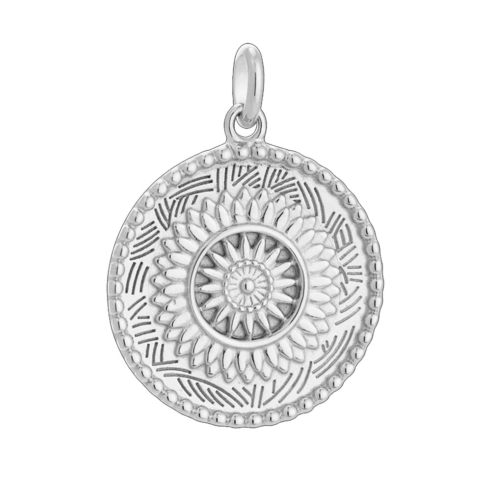 Traveller Coin Charm - Silver
