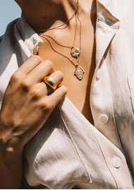 KIRSTIN ASH Desert Sun Coin Necklace - Gold