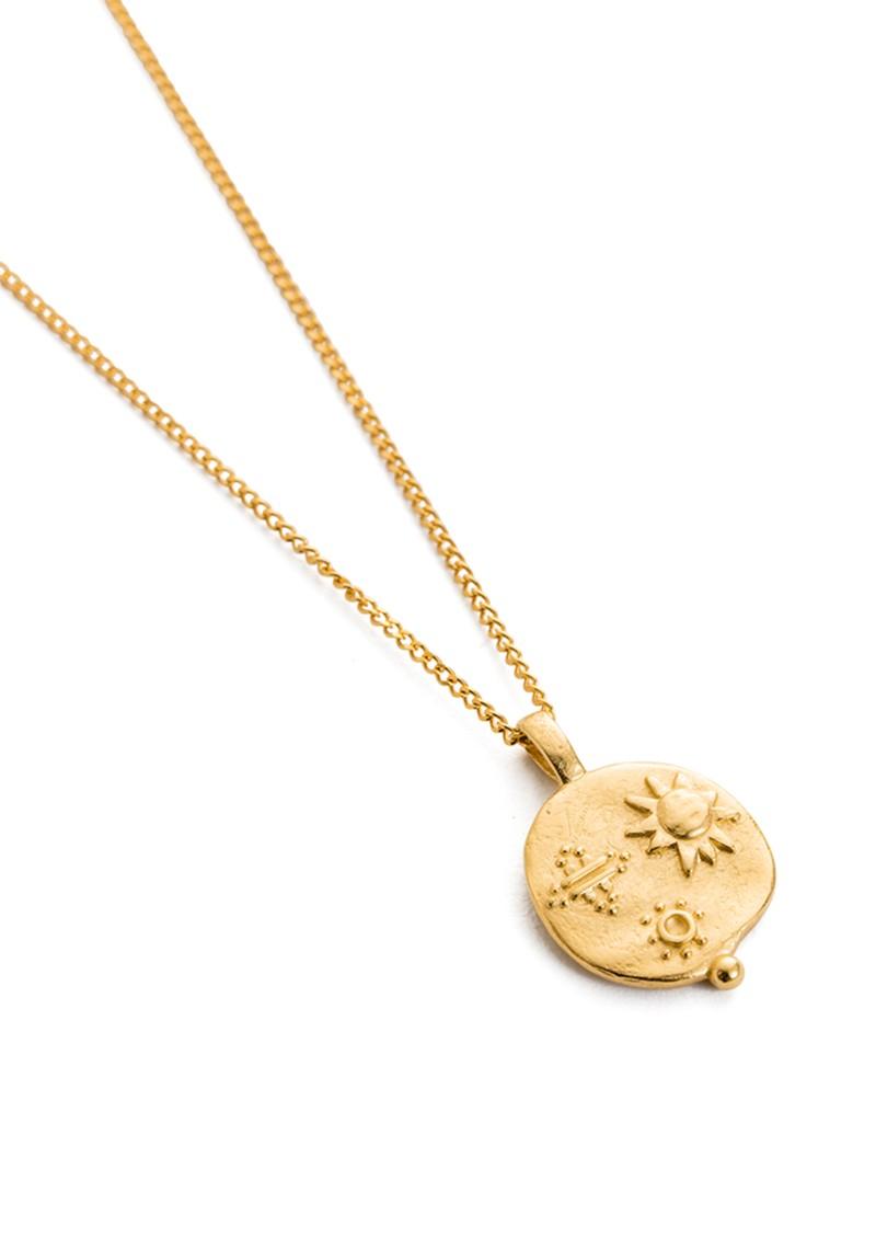 KIRSTIN ASH Desert Sun Coin Necklace - Gold main image