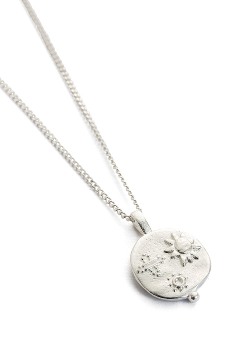 Desert Sun Coin Necklace - Silver main image