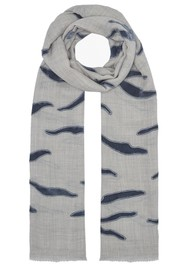 Lily and Lionel Nala Wool Mix Scarf - Grey & Blue