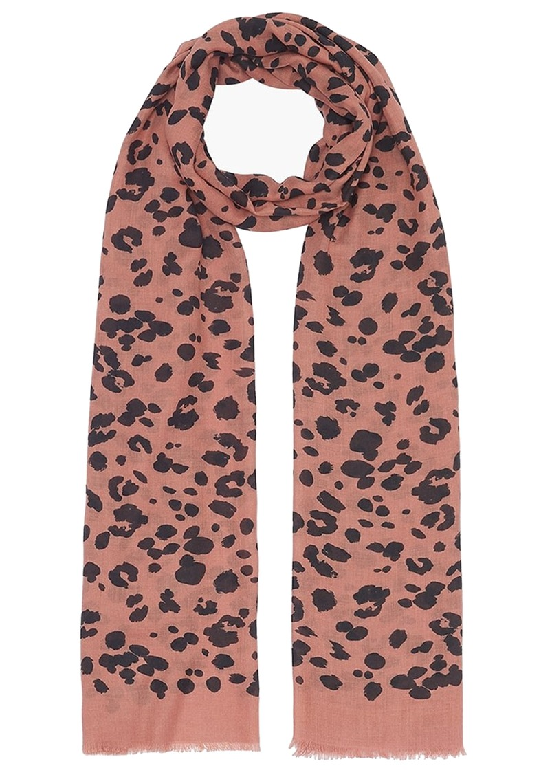 Lily and Lionel Rose Leopard Cashmere Mix Scarf - Rose  main image