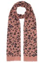 Lily and Lionel Rose Leopard Cashmere Mix Scarf - Rose