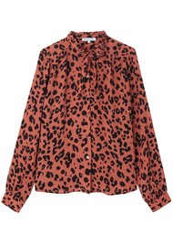 Lily and Lionel Devon Shirt - Rose Leopard