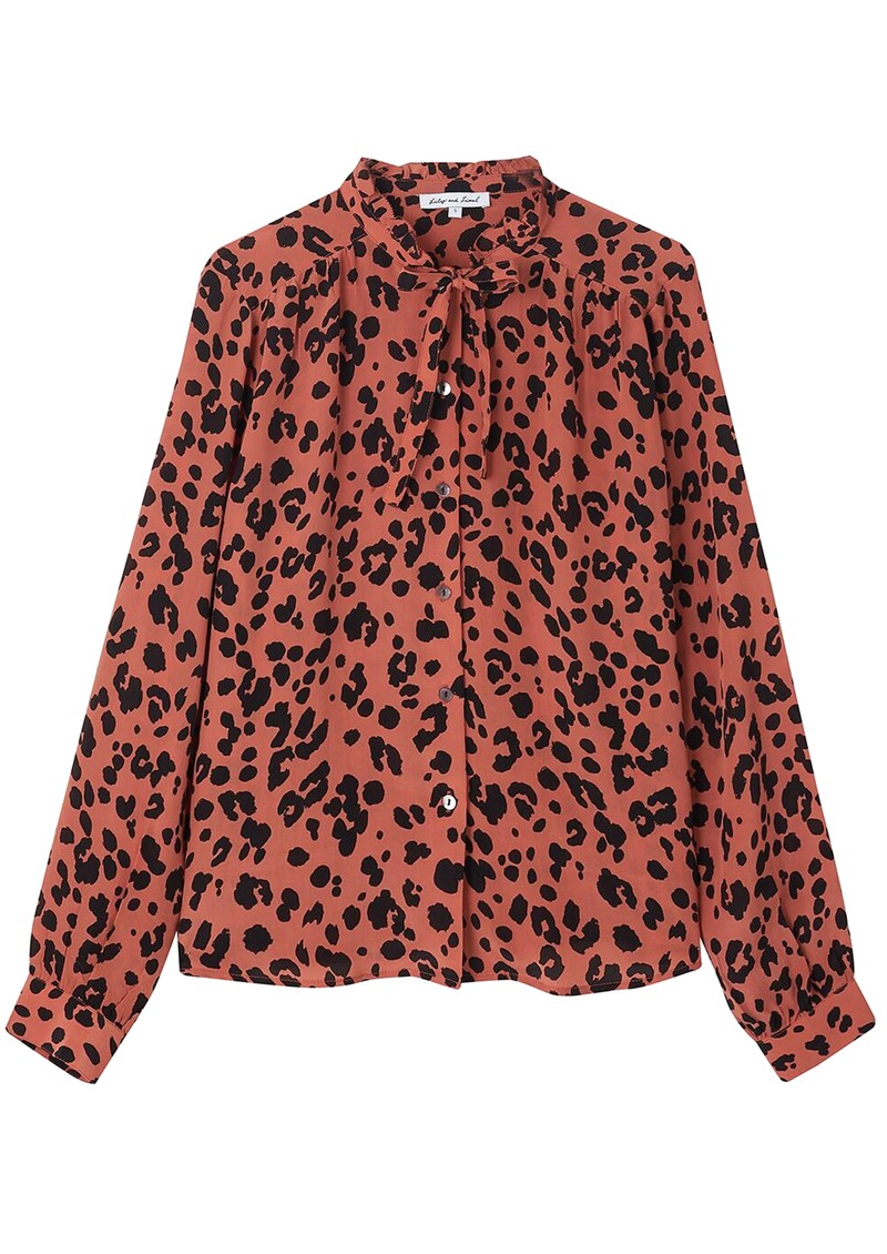 Lily and Lionel Devon Shirt - Rose Leopard main image