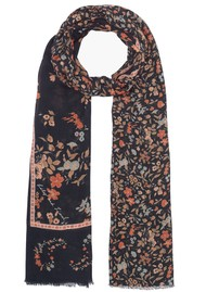 Lily and Lionel Black Jasmine Cashmere Mix Scarf - Black