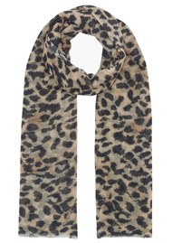 Lily and Lionel Vintage Animal Cashmere Scarf - Neutral