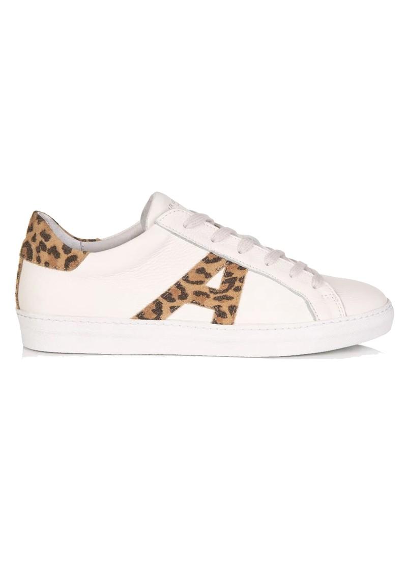 AIR & GRACE Cru Signature Leopard Trainers - White main image