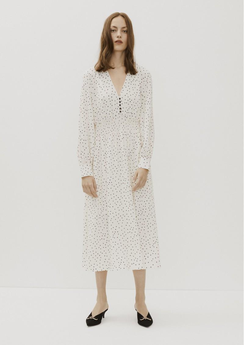 BAUM UND PFERDGARTEN Adison Polka Dot Dress - Cream & Black main image