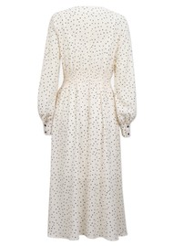 BAUM UND PFERDGARTEN Adison Polka Dot Dress - Cream & Black