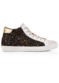 AIR & GRACE  Alto Suede Trainer - Black & Gold