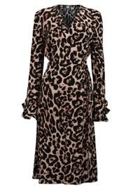 BAUM UND PFERDGARTEN Adelota Wrap Dress - Wild Leopard