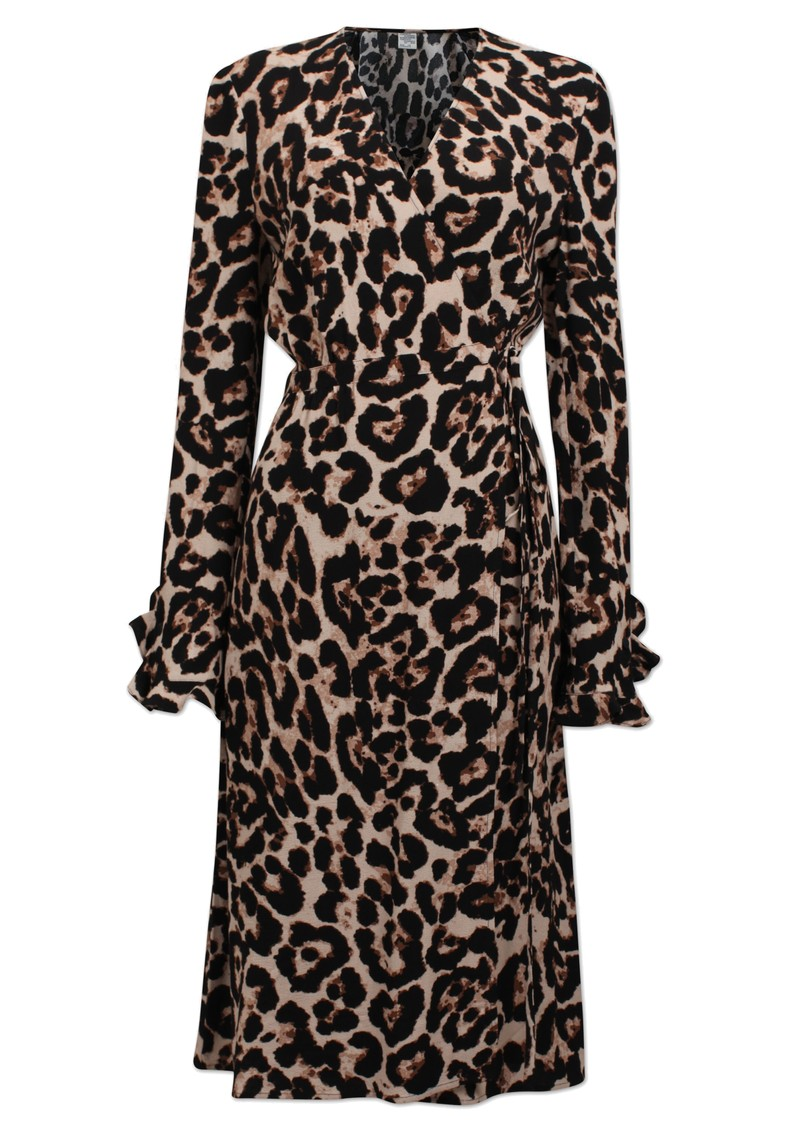 Adelota Wrap Dress - Wild Leopard main image
