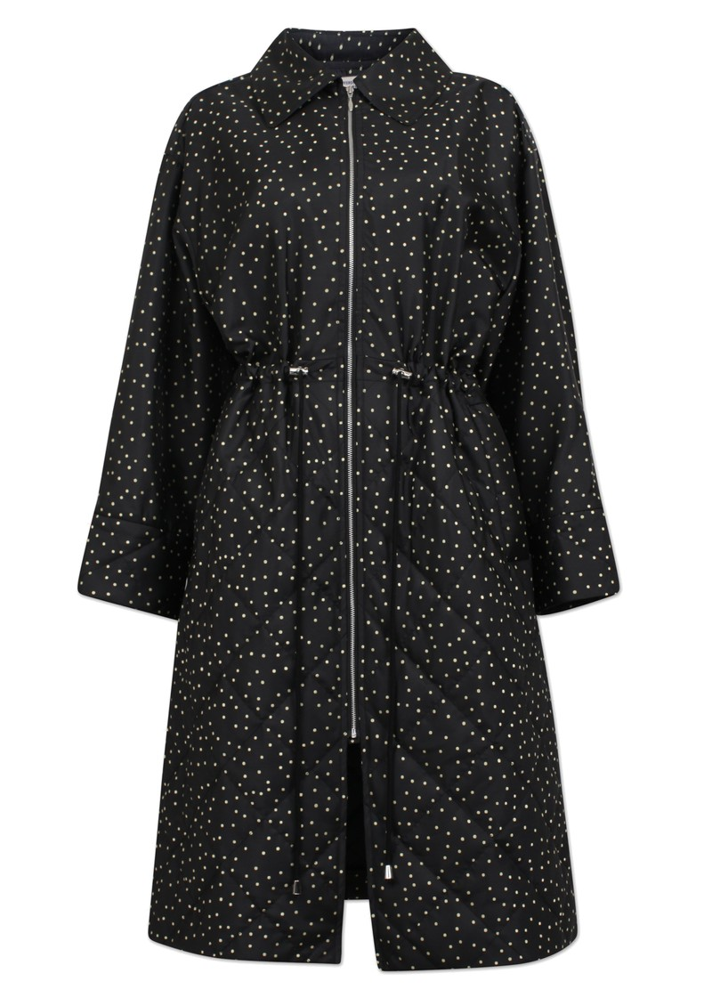 BAUM UND PFERDGARTEN Dillian Polka Dot Coat - Black Straw main image