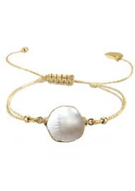 MISHKY Pietre Fili Stone Bracelet - White & Gold