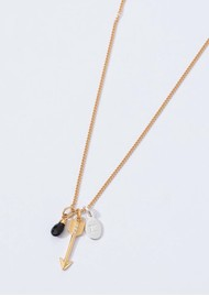 KIRSTIN ASH Bespoke Arrow Crystal Charm - Rose Gold