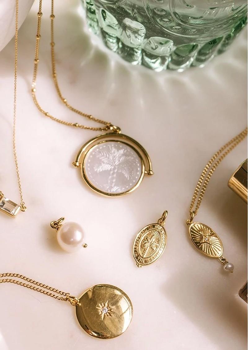 KIRSTIN ASH Bespoke Lucky Star Pearl Charm - Silver main image