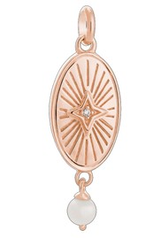 KIRSTIN ASH Bespoke Lucky Star Pearl Charm - Rose Gold