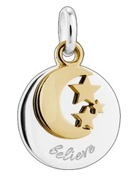 KIRSTIN ASH Bespoke Believe Double Charm - Silver & Gold
