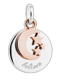 KIRSTIN ASH Bespoke Believe Double Charm - Silver & Rose Gold