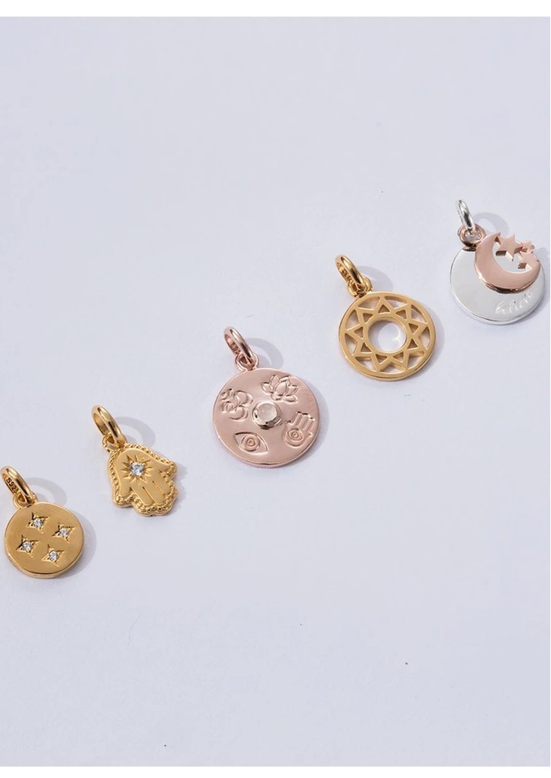 KIRSTIN ASH Bespoke Believe Double Charm - Silver & Rose Gold main image