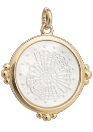 KIRSTIN ASH Bespoke Fossil Shell Charm - Gold