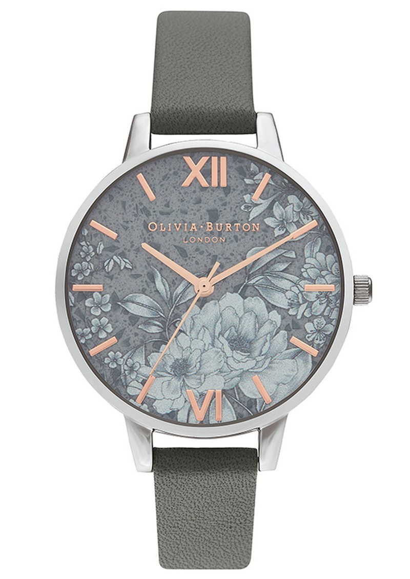 Olivia Burton Terrazzo Floral Watch - Dark Grey & Silver main image