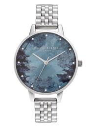Olivia Burton Under The Sea Coral & Crystal Marker Bracelet Watch - Coral & Silver