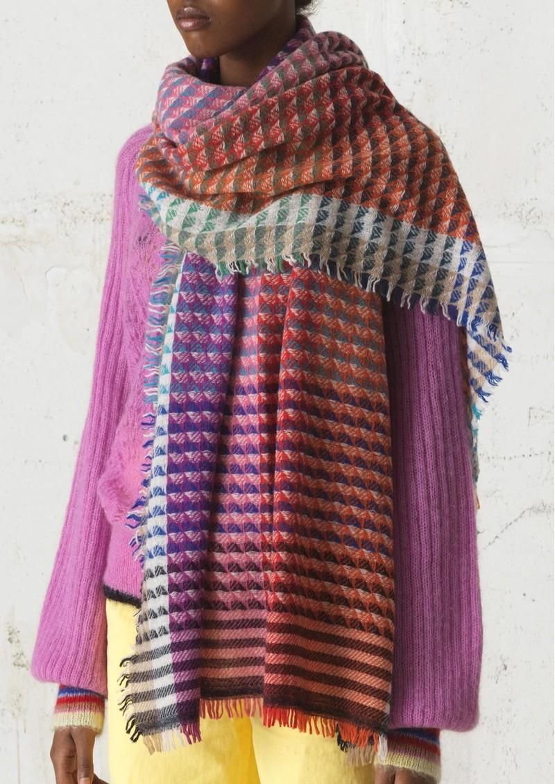 Becksondergaard Idun Wool Mix Scarf - Pink main image
