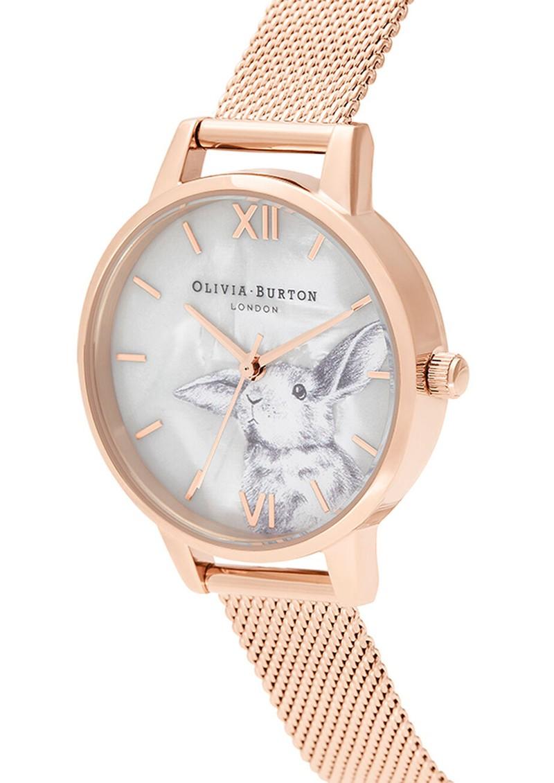 Olivia Burton Winter Wonderland Dial Mesh Watch - Rose Gold main image
