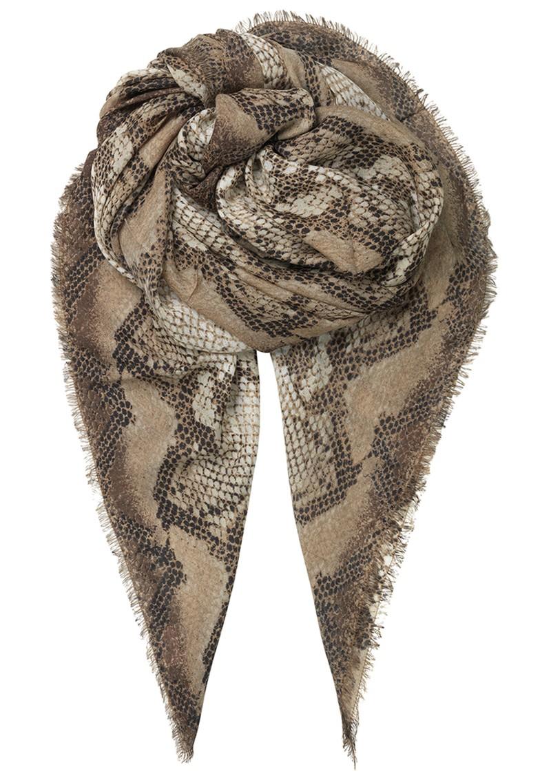 Becksondergaard Sigrid Snake Silk Mix Scarf - Beige main image
